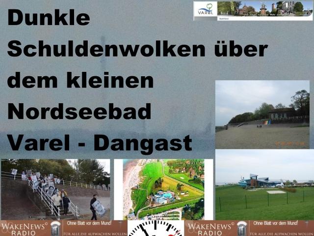 Dunkle Schuldenwolken über dem kleinen Nordseebad Varel-Dangast